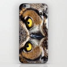Great Horned Owl Face iPhone & iPod Skin
