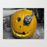 Halloween-Figgy Cat Canvas Print