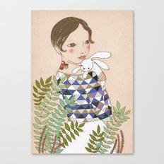 Spring bunny Canvas Print