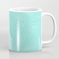 Ocean Depth Map - Turquo… Mug