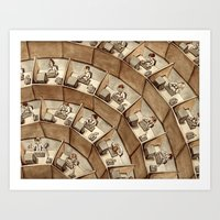 The Rings Of Cubicle Hel… Art Print