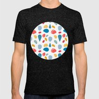 collage bits pattern Mens Fitted Tee Tri-Black SMALL