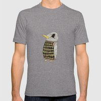 Baby Raven In Argyle Mens Fitted Tee Tri-Grey SMALL