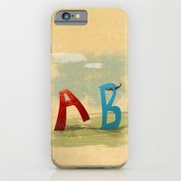 iPhone & iPod Case featuring B, You Can't Catch Me! by David Finley