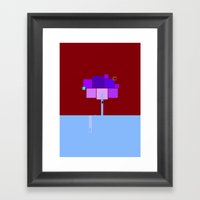Square Landscape Framed Art Print