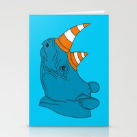 Rhino Video Player Stationery Cards