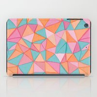 watercolor triangles iPad Case