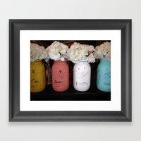 Jar Mason Framed Art Print
