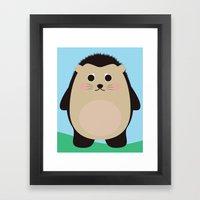 Hubert the Hedgehog Framed Art Print
