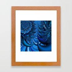 Blue Spike Framed Art Print