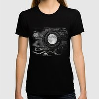 Moon Glow Womens Fitted Tee Black SMALL