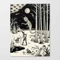 It Followed Him Out Of T… Canvas Print