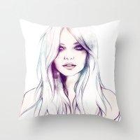 Miranda Kerr Throw Pillow
