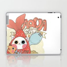 Aqua cat_ Rappa Laptop & iPad Skin