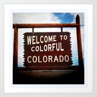Colorful, Colorado Art Print