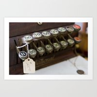 Cash Register Keys Art Print