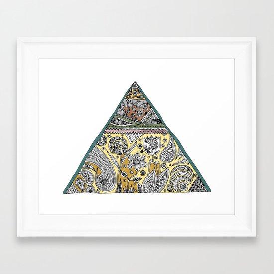 Triangle - Neutral Framed Art Print