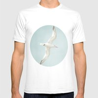 Free Bird  Mens Fitted Tee White SMALL