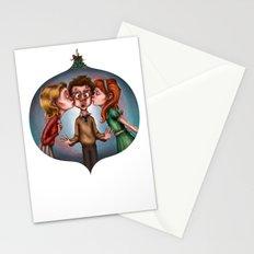 Boy's Mistletoe Surprise Stationery Cards