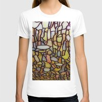 Stained Glass Womens Fitted Tee White SMALL