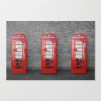 Phone Box Fun Canvas Print
