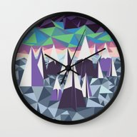 Arctic Mountains No. 1 Wall Clock