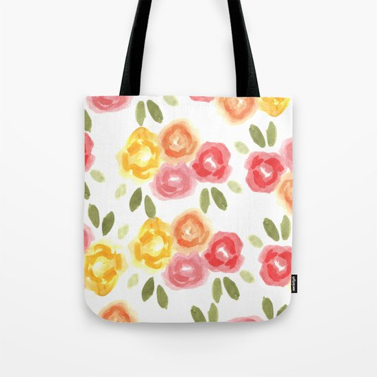 Vintage Florals Tote Bag