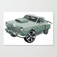 Studebaker In Green Canvas Print