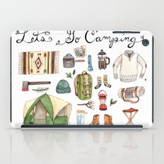 Let's Go Camping iPad Case