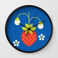 Fruit: Strawberry Wall Clock