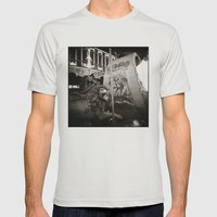{ Merry Go Round } Mens Fitted Tee Silver SMALL