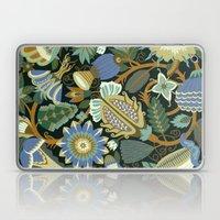 Flower Fantasy in blue Laptop & iPad Skin