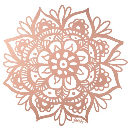 rose gold mandala pattern design