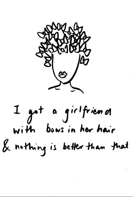 girlfriend is better Art Print