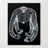 Ape And His Little Frien… Canvas Print