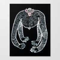 Ape And His Little Frien… Canvas Print