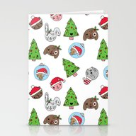 Cute Holiday Animals! Stationery Cards