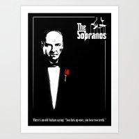 The Sopranos (The Godfather mashup) Art Print