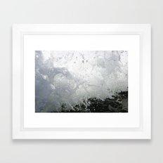 Wave crashes Framed Art Print