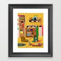 Game Room Mainframe Framed Art Print