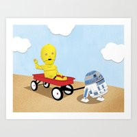 SW Kids - C3PO & R2D2 Re… Art Print