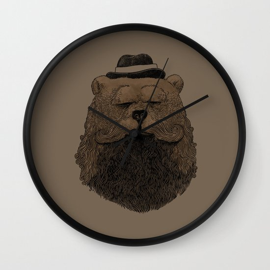 Grizzly Beard Wall Clock