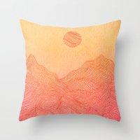 Sunset Mountain - 2 Throw Pillow