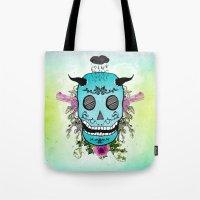 Rain Skull Tote Bag