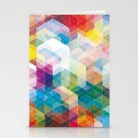 Cuben Curved #3 Geometric Art Print. Stationery Cards