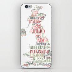Shakespeare's Richard III  iPhone & iPod Skin