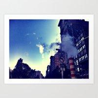 City Steam Art Print