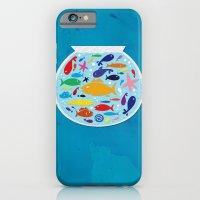 Big fish, little bowl.  iPhone 6 Slim Case