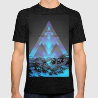 Neither Real Nor Imagina… Mens Fitted Tee Tri-Black SMALL