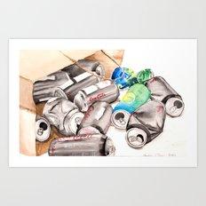 Spilled Cans Art Print